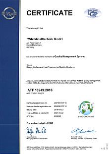 IATF 16949 (FWM Metalltechnik)