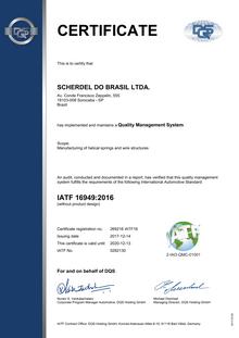 IATF 16949 (SCHERDEL DO BRASIL LTDA.)