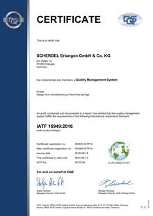 IATF 16949 (SCHERDEL Erlangen GmbH)