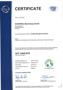 IATF 16949 (SCHERDEL Marienberg GmbH)