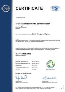 IATF 16949 (SFS Spezialfedern)