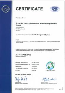 IATF 16949 (Scherdel Prototypenbau)