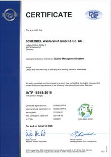 IATF 16949 (SCHERDEL Waldershof GmbH & Co. KG)