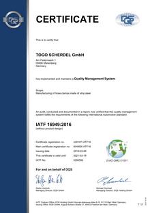 IATF 16949 (Togo)